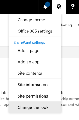 Office 365 Group - How to change theme